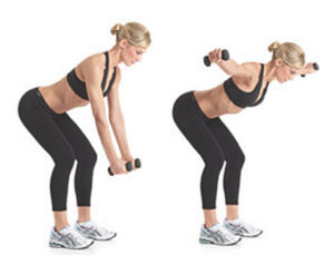 bent over fly exercise