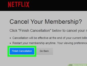 CANCELLING THE neftlix SUBSCRIPTION USING website