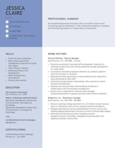 template of resume writing