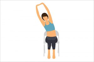 Seated Crescent Moon Pose
