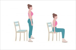 Sit and stand chair pose